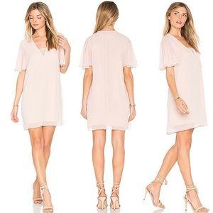 BCBGeneration Lace Blush Chiffon Slip Dress